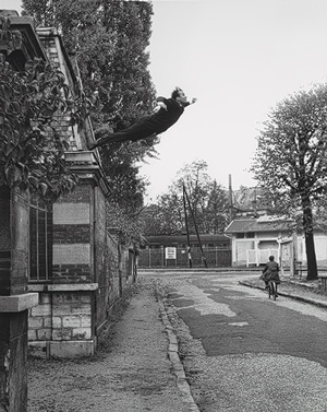 "Yves Klein ""Leap into the Void"" Date: 1960"