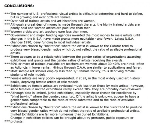 conclusions-for-graphic-comparisons-of-gender-discrimination-in-the-art-field