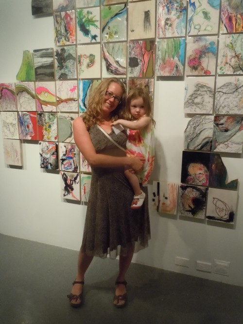 Katie & Zoe Caron at the Center for Visual Arts