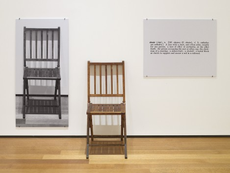 "Joseph-Kosuth ""One-and-Three Chairs"" See this work in MoMA's Online Collection"