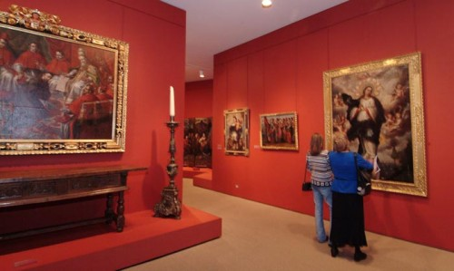 The Spanish Colonial art galleries at the Denver Art Museum. Photo by Steve Crecelius. Courtesy Denver Art Museum.