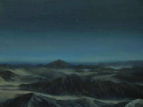 "Nathan Abels, ""First Light,"" Acrylic on Canvas, 36"" x 48"""