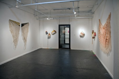 """Sandra Fettingis, Theresa Anderson and Amber Cobb at Hyperlink Gallery, Chicago """"Pink Days & Blue Days"""""""